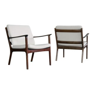 Ole Wanscher Easy Chairs Model PJ112 in Mahogany