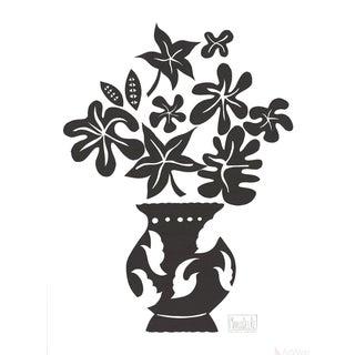 """Marco Del Re """"Vase IV Noir"""" 2008 Lithograph"""