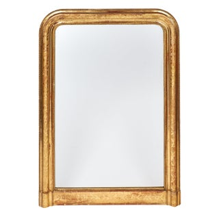 Antique French Louis Philippe Gold Leaf Mirror