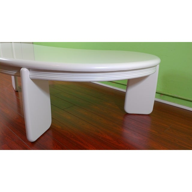 Kidney Shaped Coffee Table - Image 5 of 11