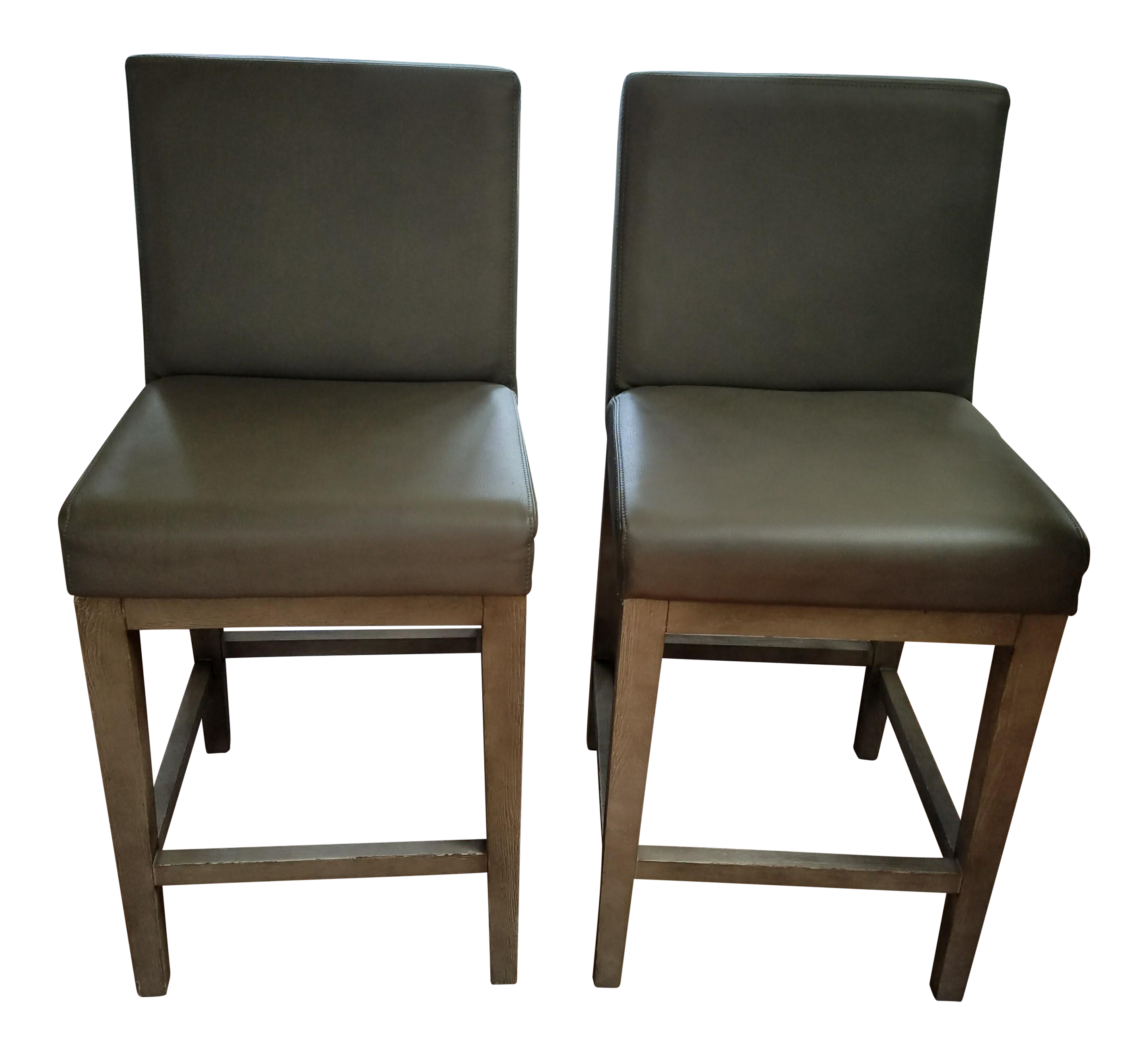 image of restoration hardware morgan leather counter stool a pair - Leather Counter Stools