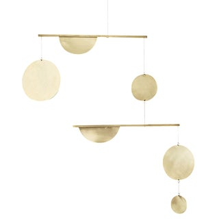 Brass Two-Tiered Geometric Mobile