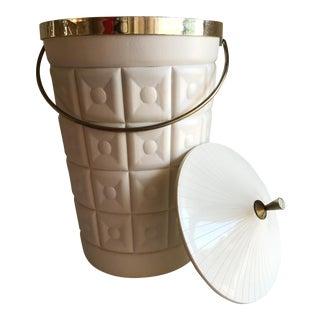 Mid-Century Acrylic & Metal Ice Bucket