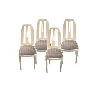 Vienna Secession White Lacquered Chairs - Set of 4