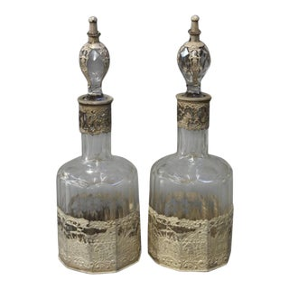 Continental Crystal Decanters - A Pair