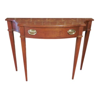 Harden Classic Cherry Federal Style 1 Drawer Hand Painted 632 Console
