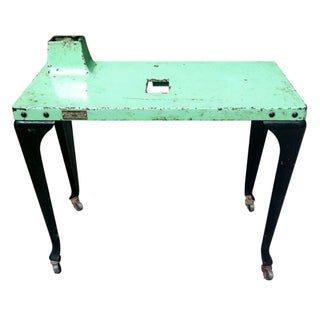 Industrial Westinghouse Factory Console Table