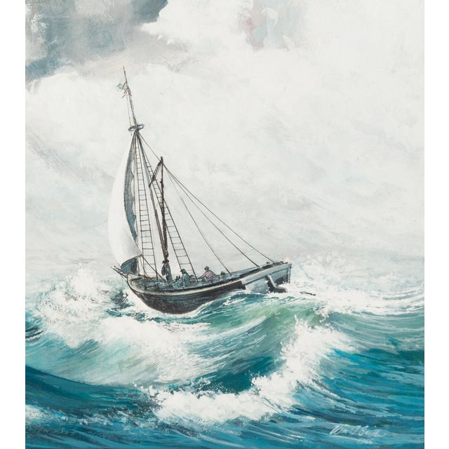 Oil Painting - A Stiff Breeze, 1966 - Image 5 of 6