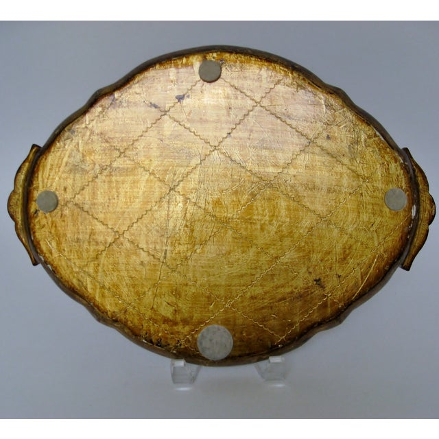 Florentine Gesso And Wood Tray - Image 8 of 8