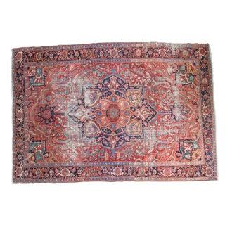 "Distressed Ahar Heriz Carpet - 8'2"" X 11'9"""