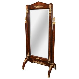 19th C. French Empire Cheval Mirror