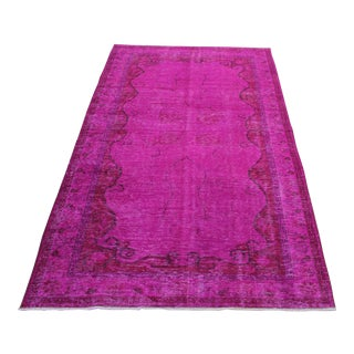 Turkish Oriental Over Dyed Rug- 5′4″ × 8′10″