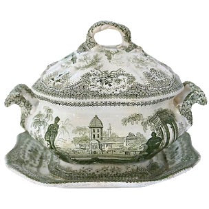 Antique Staffordshire Sauce Tureen