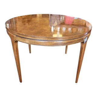 Burl Top Dining Table