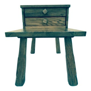Ranch Oak Side Tables - A Pair
