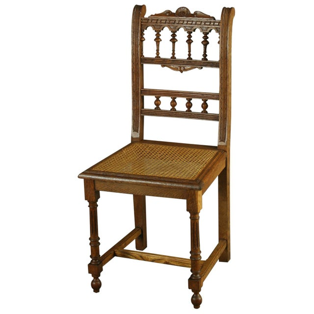 Antique French Renaissance Henry II Oak Chairs - 8 - Image 4 of 8