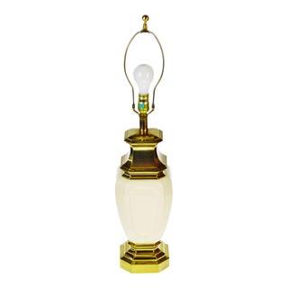 Vintage Stiffel Porcelain & Brass Table Lamp