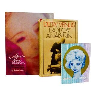 Anais Nin Observed Books - Set of 3