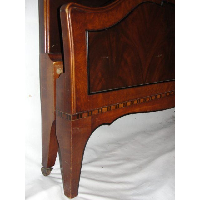 Twin Mahogany Flame Headboards - A Pair - Image 5 of 7