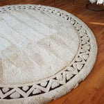 Image of Edward Fields White Round Wool Rug 10'6""