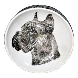 Vintage Piero Fornasetti Boxer Dog Porcelain Ashtray