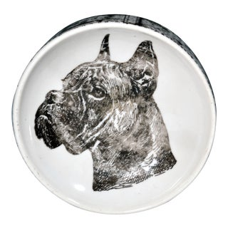 Vintage Piero Fornasetti Boxer Dog Porcelain Ashtray