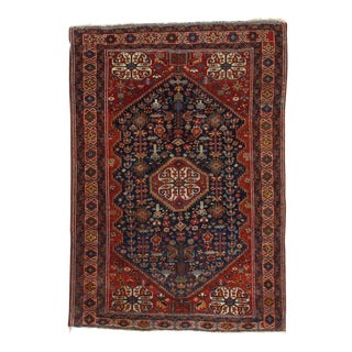 "Pasargad NY Antique Persian Ghashghaei Hand-Knotted Rug - 3'3"" x 4'7"""