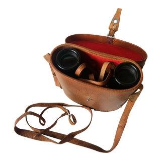 Vintage Private Eye Binoculars With Original Leather Case
