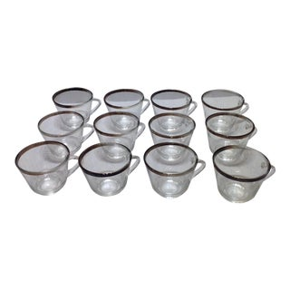 Vintage Silver Rim Glasses - Set of 12