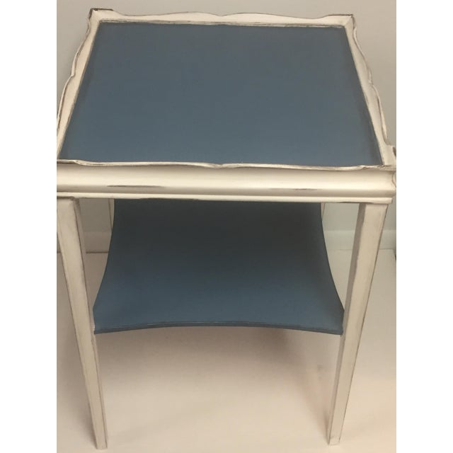 Distressed Painted Side Table - Image 4 of 6