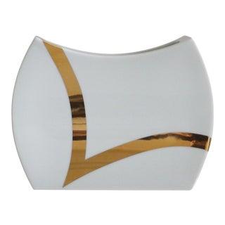 Rosenthal Porcelain Gold & White Vase