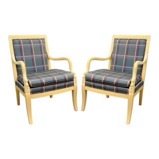 Ethan Allen Italian Regency Carved Dolphin Chairs - A Pair