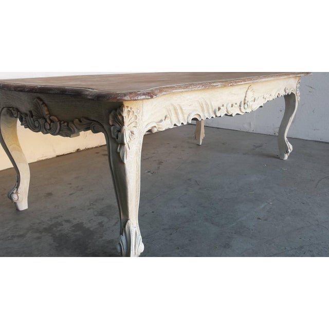 French Country Style Carved Coffee Table - Image 3 of 4