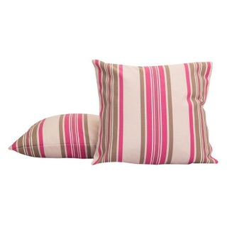 Pink and Gray Throw Pillow From France