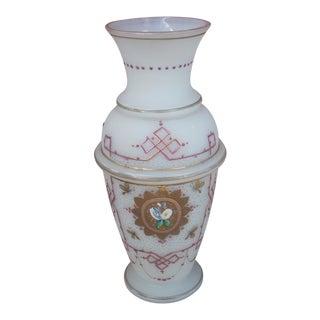 Bohemian Floral Glass Vase
