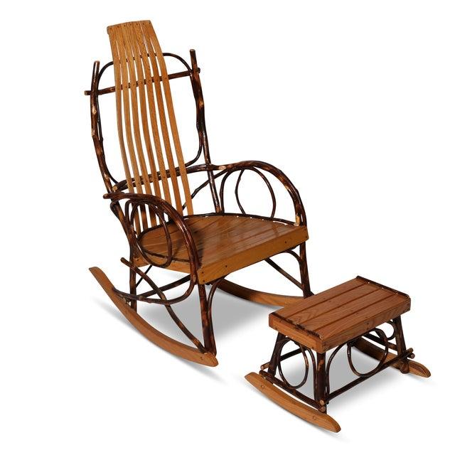 Image of Amish Bentwood Rocker & Footstool Set