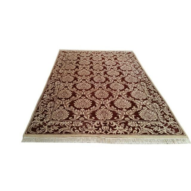 Traditional Hand Made Knotted Rug - 6x9 - Image 2 of 4