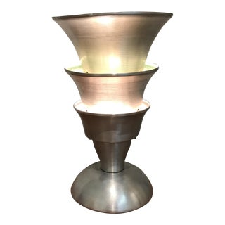 Art Deco Spun Aluminum Lamp