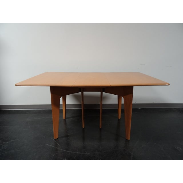 Heywood Wakefield Wheat Gate Leg Drop Leaf Table - Image 2 of 11