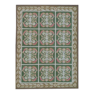 "Pasargad Aubusson Hand-Woven Wool Rug- 7' 6"" X 10' 7"""