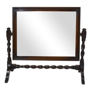 Vintage Barley Twist English Table Mirror on Stand