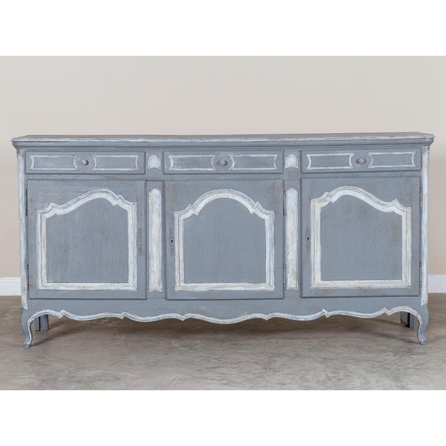 Antique French Louis XV Style Painted Oak Buffet circa 1875 - Image 3 of 9