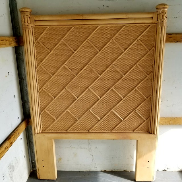 Rattan Bamboo Chippendale Twin Headboard - Image 3 of 3