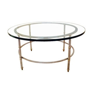 Round Chrome & Brass Coffee Table