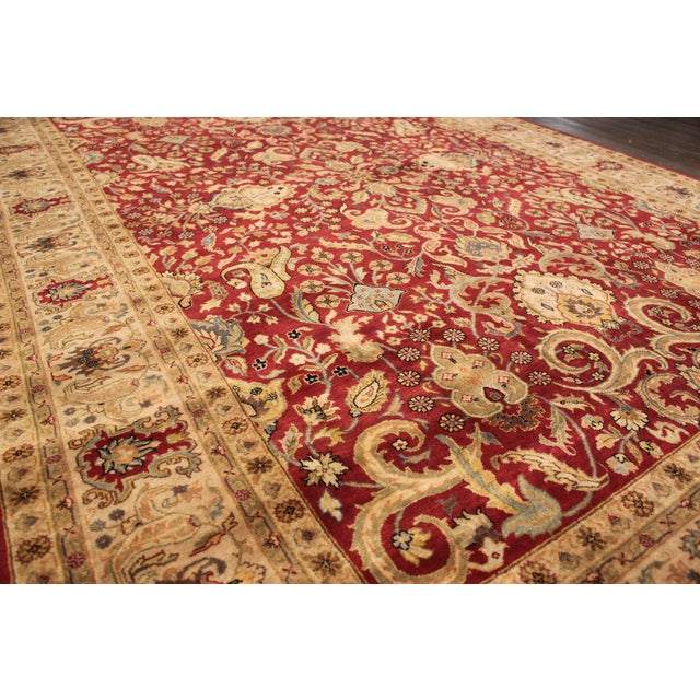 """Hand-Knotted Tabriz Wool Rug - 6' x 8'10"""" - Image 4 of 5"""