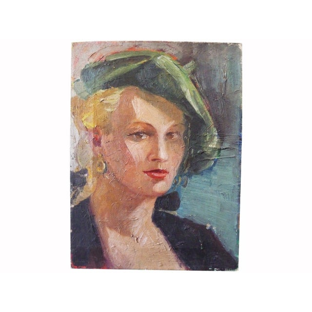 Image of Vintage Portrait - Lady in a Beret