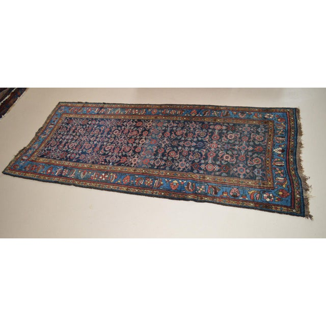 """Antique Persian Wide Runner- 3'10"""" X 9'7"""" - Image 3 of 11"""