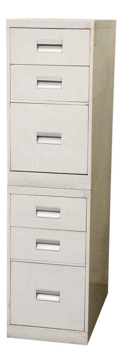 stackable white metal filing cabinet