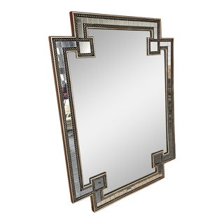 Asian Wall Mirror With Mosaic Pieces