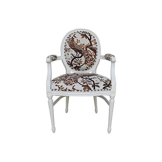 Vintage White Peacock Chairs - A Pair - Image 8 of 9